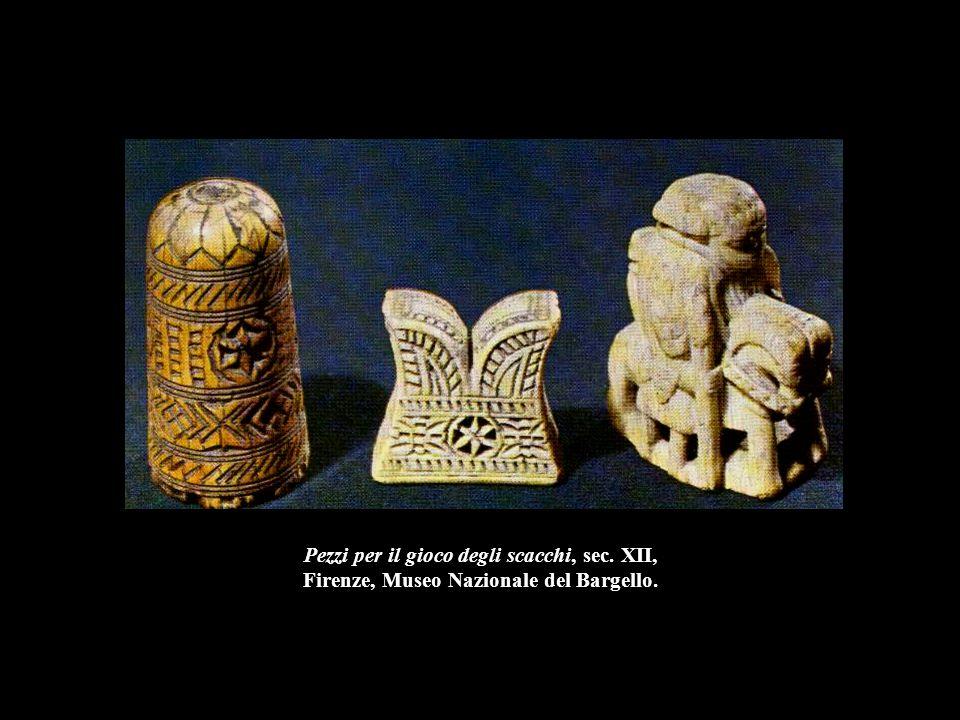 Pezzi per il gioco degli scacchi, sec. XII, Firenze, Museo Nazionale del Bargello.