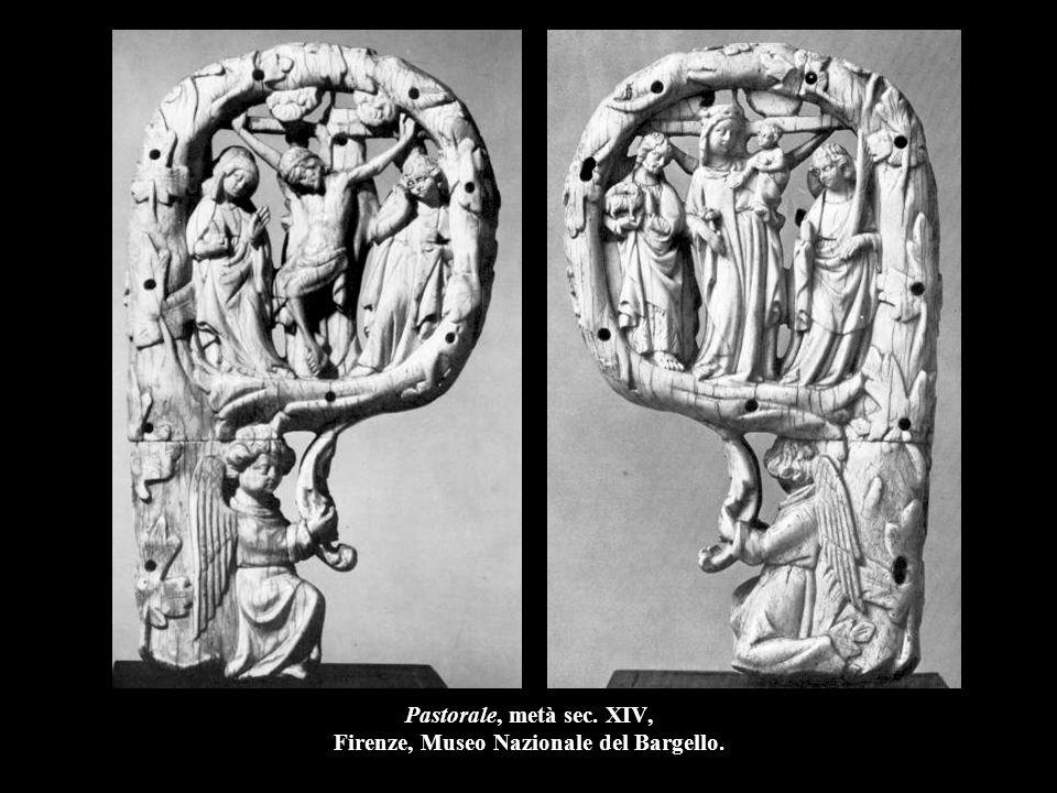 Pastorale, metà sec. XIV, Firenze, Museo Nazionale del Bargello.