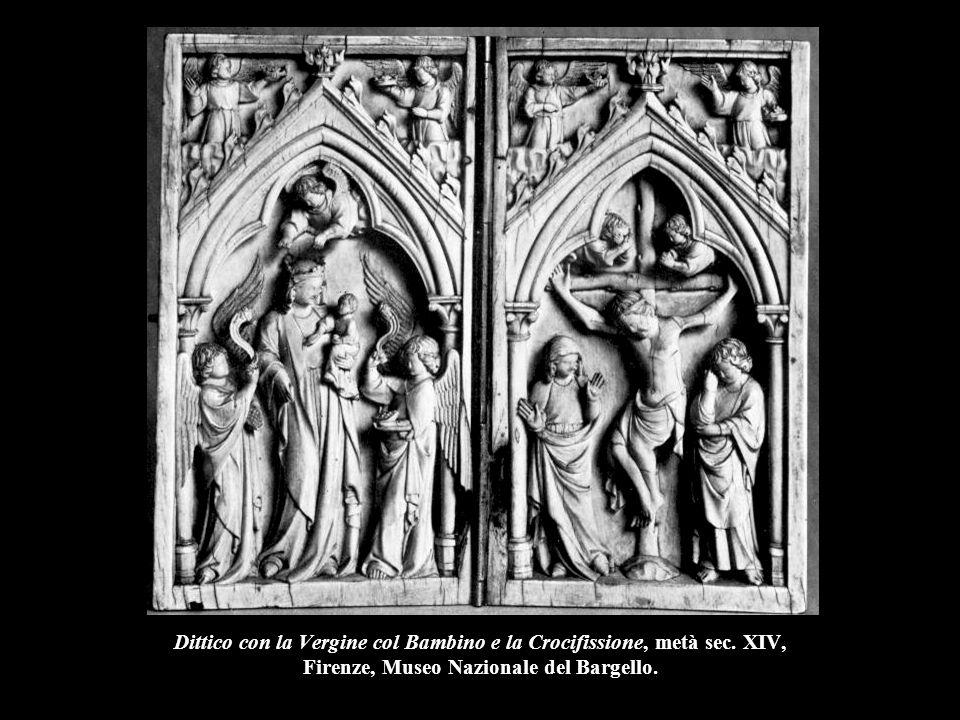 Dittico con la Vergine col Bambino e la Crocifissione, metà sec. XIV, Firenze, Museo Nazionale del Bargello.