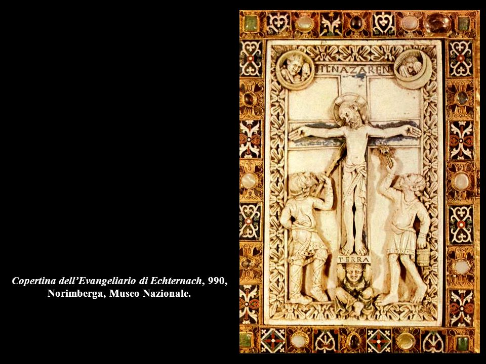 Copertina dell'Evangeliario di Echternach, 990, Norimberga, Museo Nazionale.