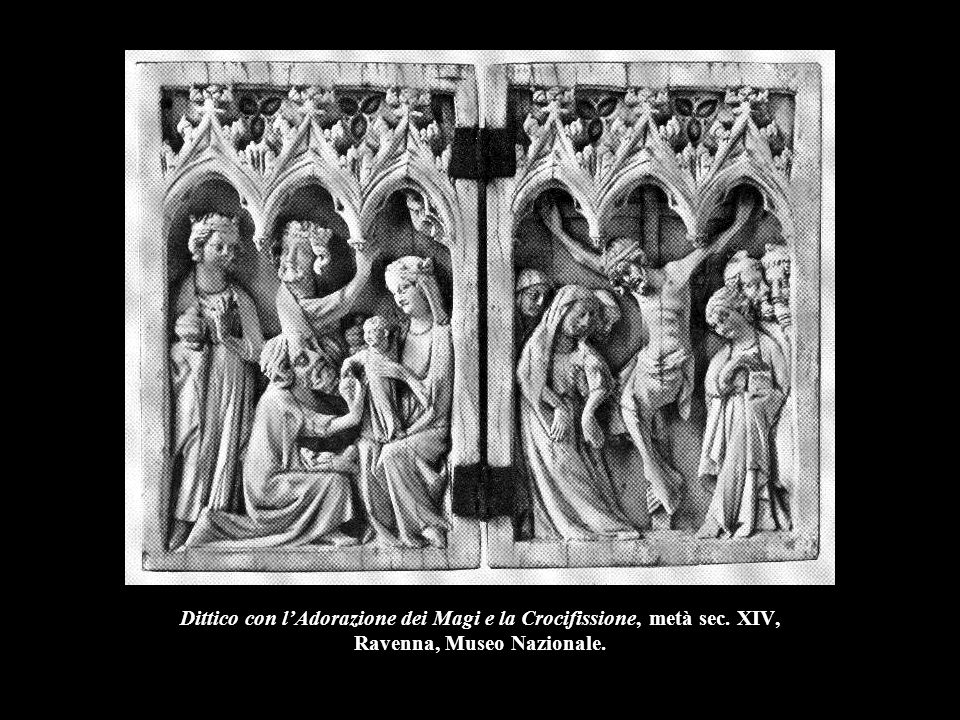Dittico con l'Adorazione dei Magi e la Crocifissione, metà sec. XIV, Ravenna, Museo Nazionale.