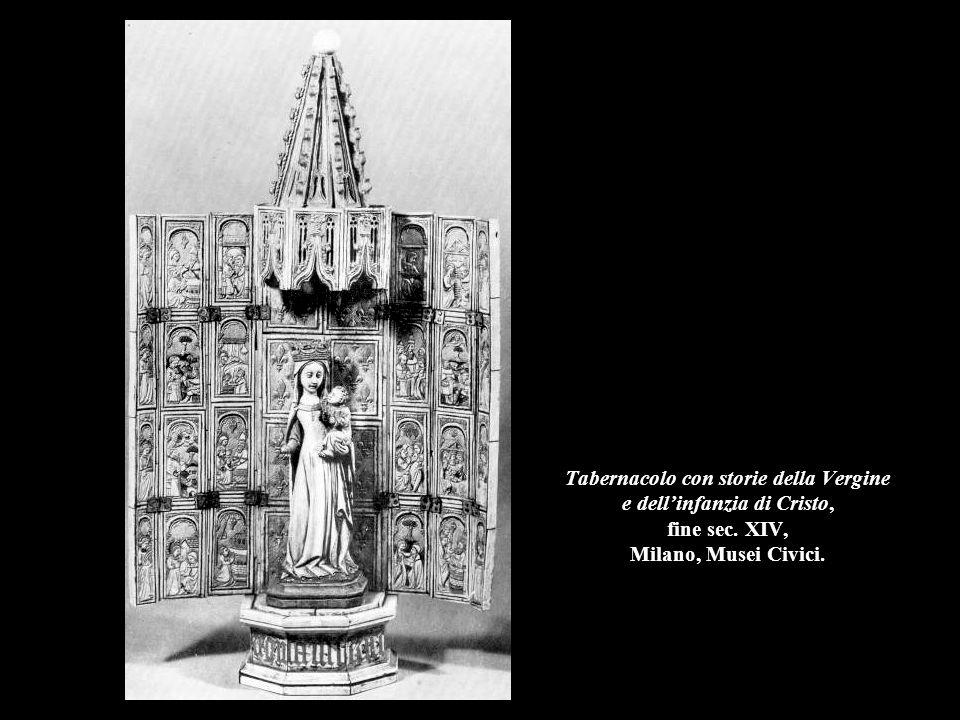 Tabernacolo con storie della Vergine e dell'infanzia di Cristo, fine sec. XIV, Milano, Musei Civici.