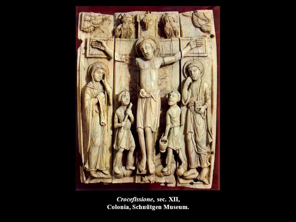 Crocefissione, sec. XII, Colonia, Schnütgen Museum.
