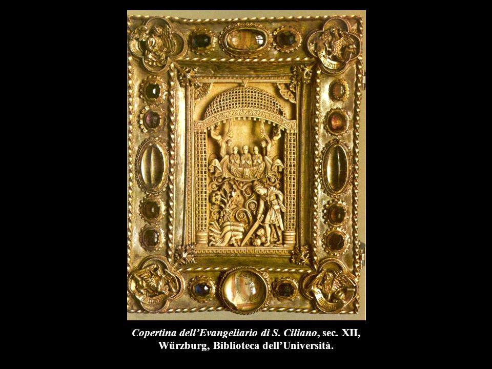 Copertina dell'Evangeliario di S. Ciliano, sec. XII, Würzburg, Biblioteca dell'Università.