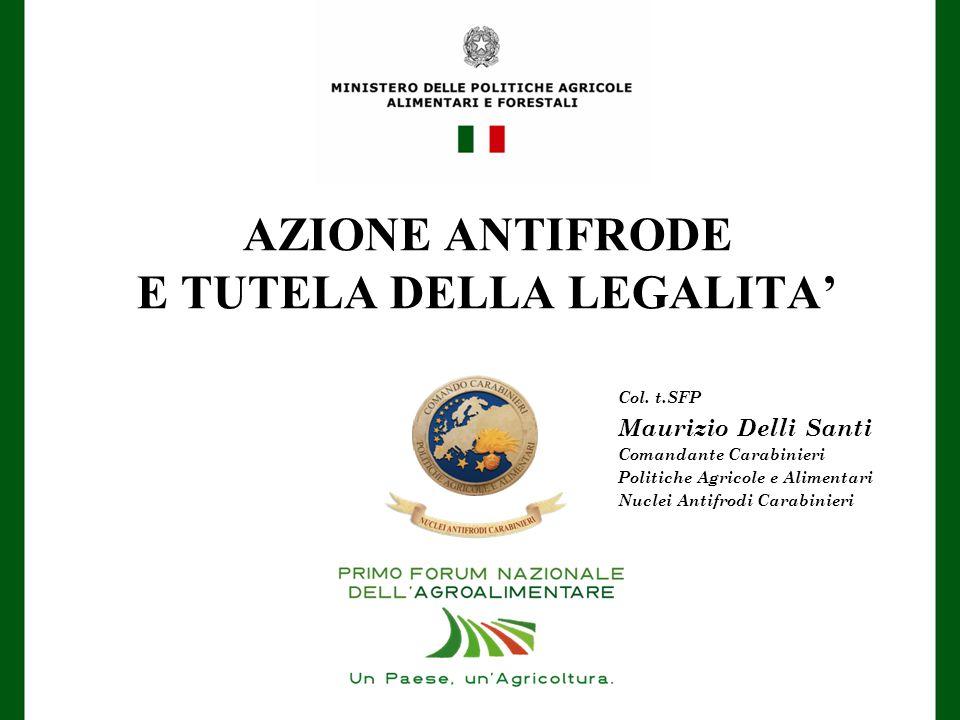 AZIONE ANTIFRODE E TUTELA DELLA LEGALITA' Col.