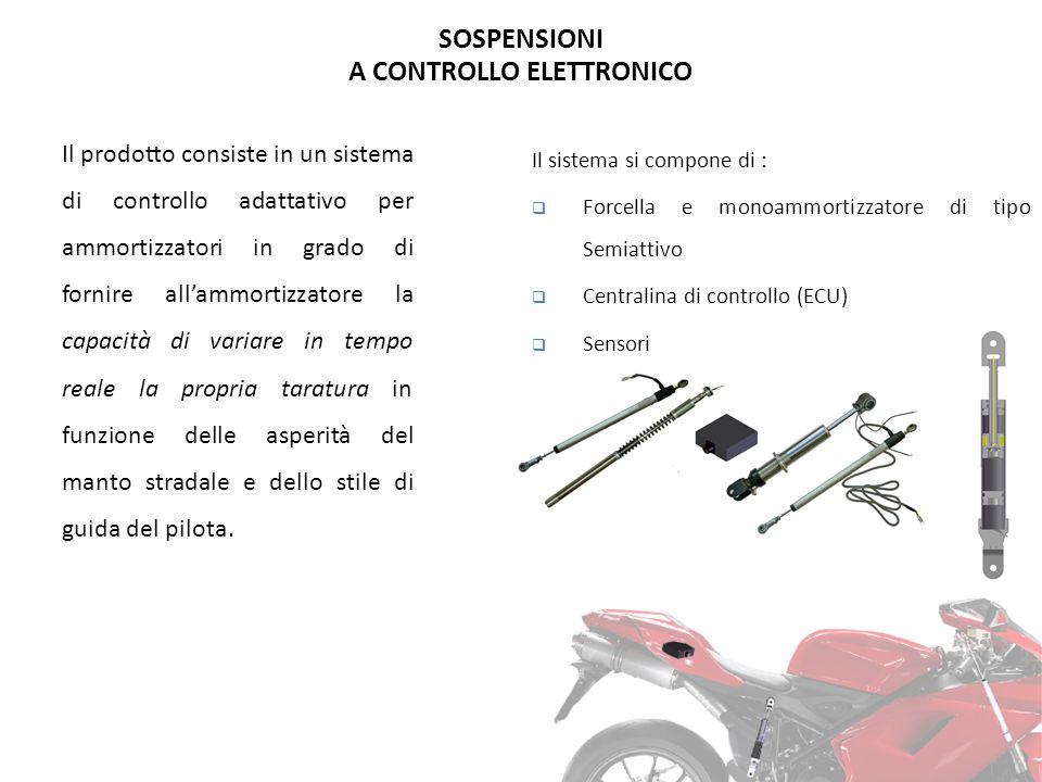 SOSPENSIONI A CONTROLLO ELETTRONICO Il prodotto consiste in un sistema di controllo adattativo per ammortizzatori in grado di fornire all'ammortizzato