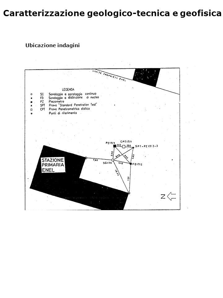 Caratterizzazione geologico-tecnica e geofisica Ubicazione indagini