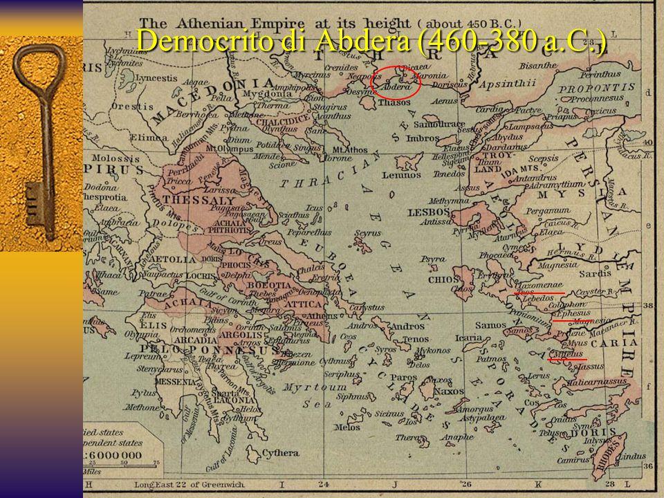 Democrito di Abdera (460-380 a.C.)