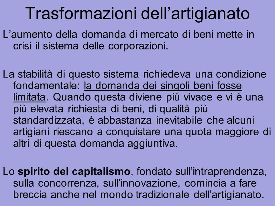 Attori del capitalismo La nascita del capitalismo è innanzitutto l'opera di uomini nuovi , gli imprenditori, che provengono da strati e ceti diversi.