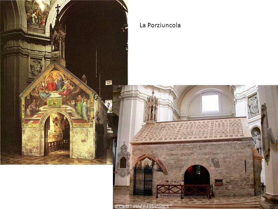 La Porziuncola Quando San Francesco la elesse a sua dimora, essa era una piccola cappella benedettina costruita nel IX secolo.