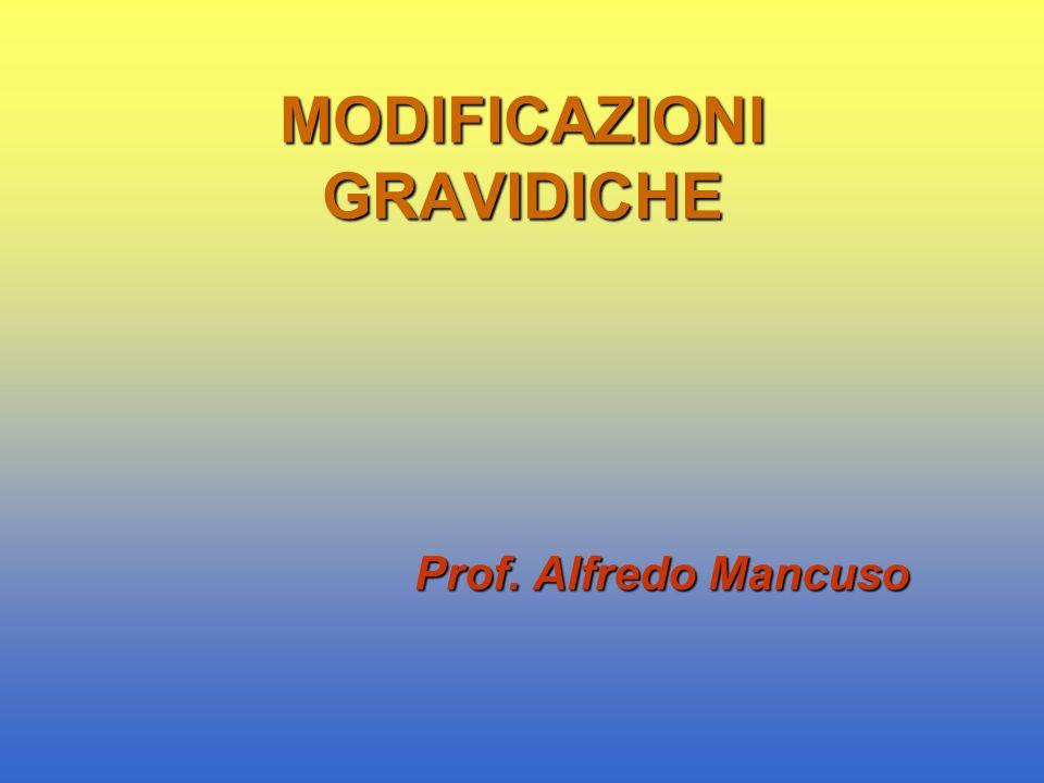 MODIFICAZIONI GRAVIDICHE Prof. Alfredo Mancuso