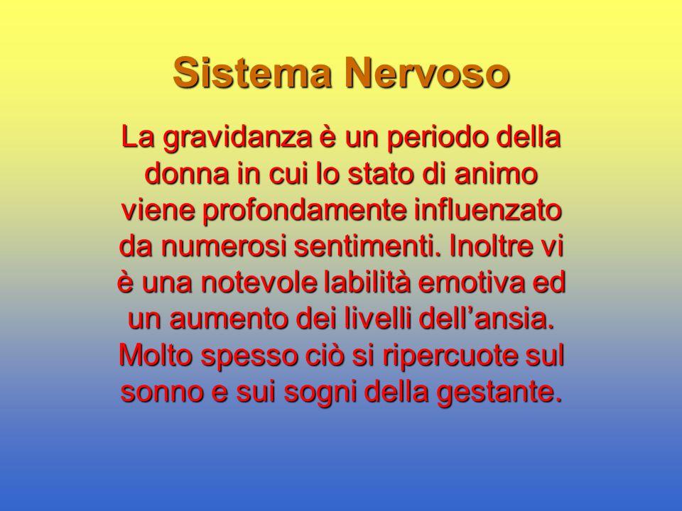 Sistema Nervoso La gravidanza è un periodo della donna in cui lo stato di animo viene profondamente influenzato da numerosi sentimenti. Inoltre vi è u