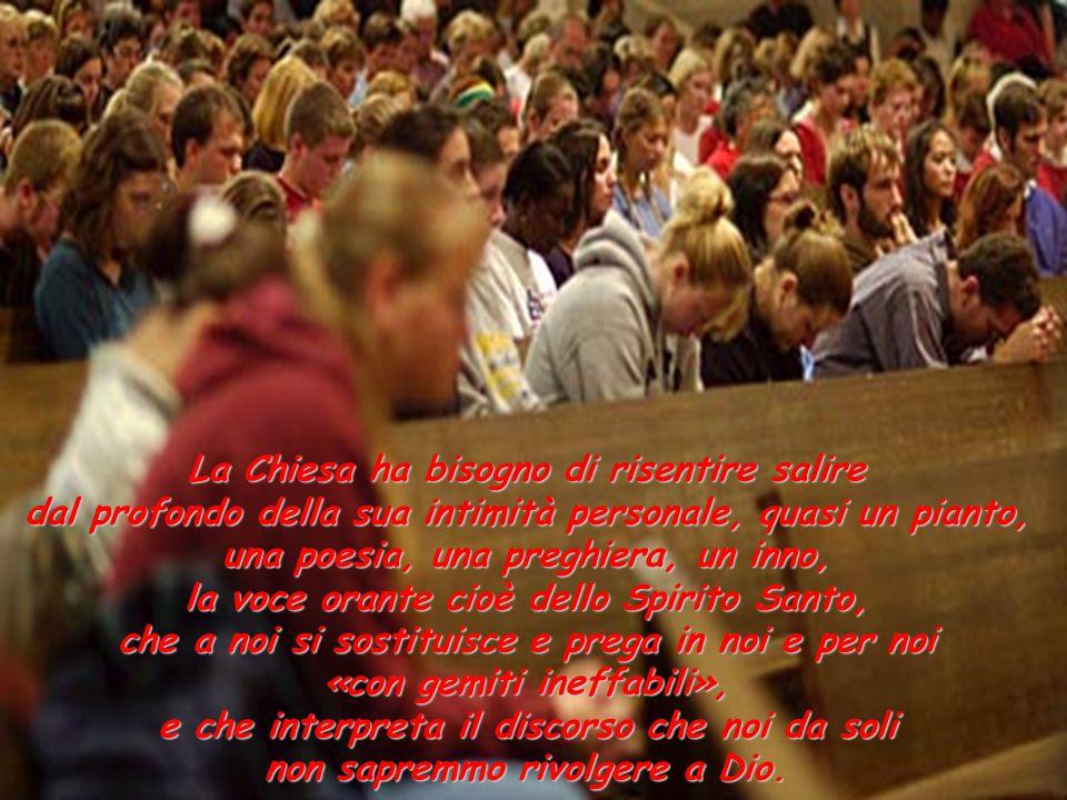 La Chiesa ha bisogno della sua perenne pentecoste. Ha bisogno di fuoco nel cuore, di parole sulle labbra, di profezia nello sguardo. La Chiesa ha biso