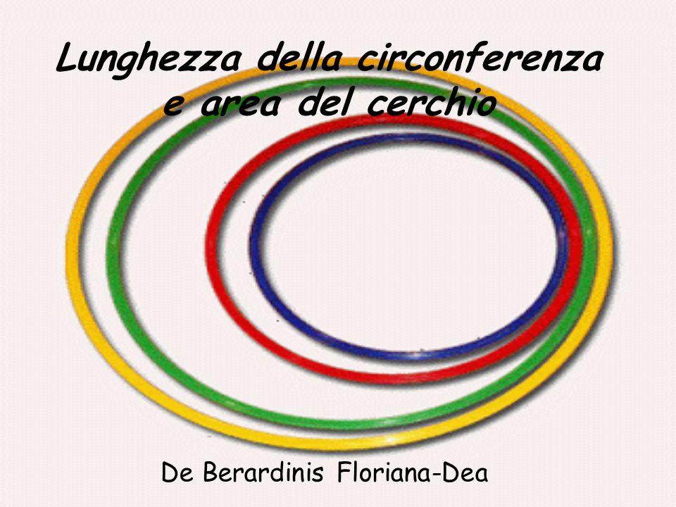 Lunghezza della circonferenza e area del cerchio De Berardinis Floriana-Dea