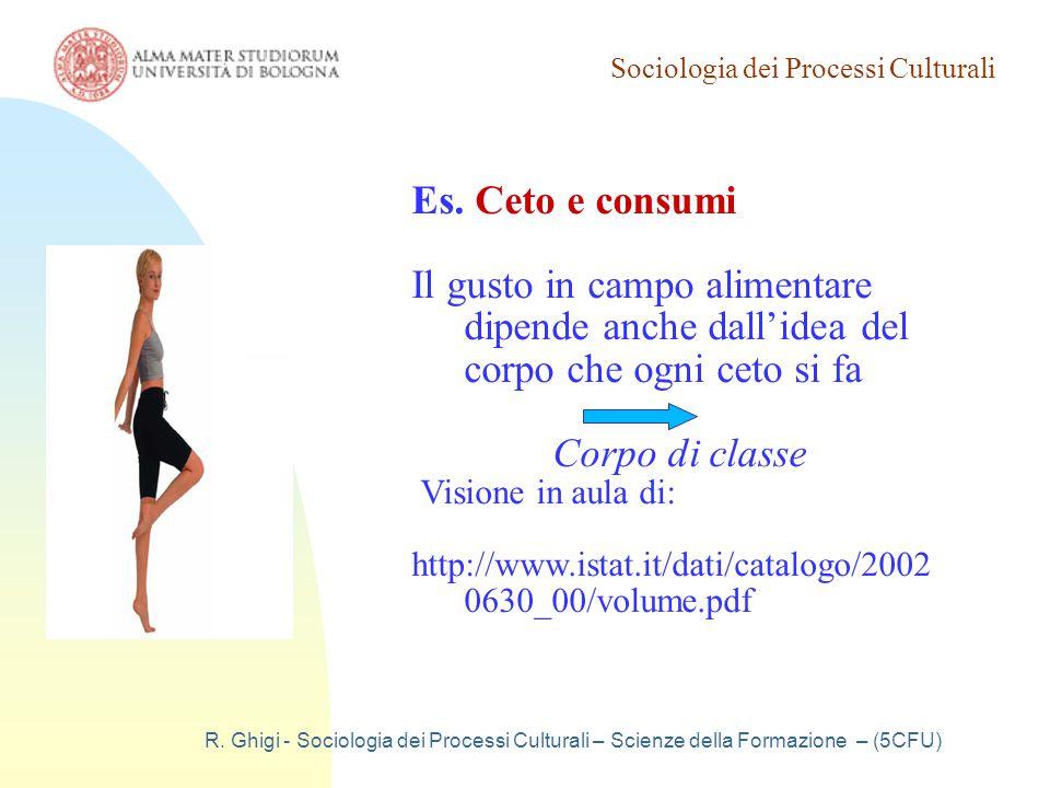Sociologia dei Processi Culturali R. Ghigi - Sociologia dei Processi Culturali – Scienze della Formazione – (5CFU) Es. Ceto e consumi Il gusto in camp