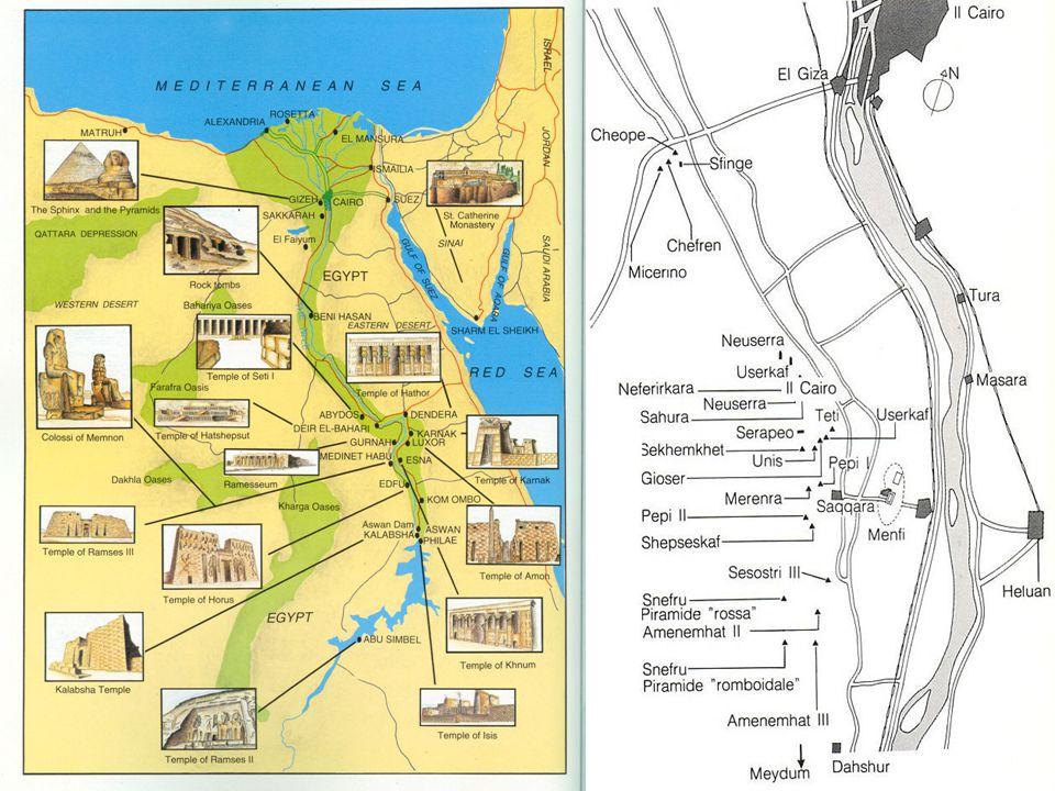 BASSO EGITTO ALTO EGITTO (Nord = Delta del Nilo) (Sud = Sorgente del Nilo)