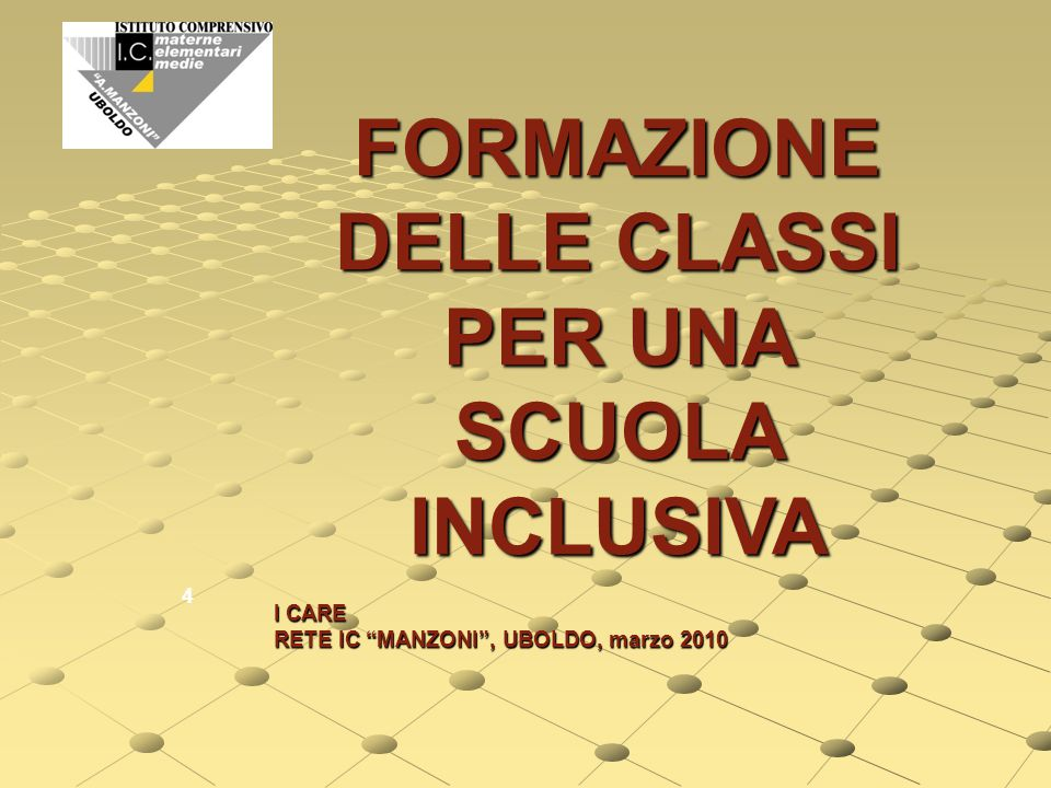 """I.C."""" A. MANZONI"""" Formazione classi inclusive I.C."""" A.MORO """" Cooperative learning I.C."""" IGNOTO MILITI """" Comunicare con i genitori di bambini speciali"""