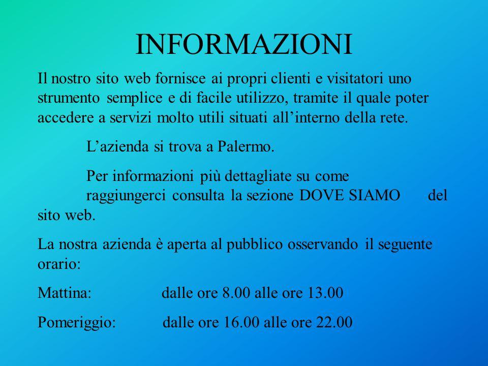 INFORMAZIONI 1 Telefono: 3498965895 Fax: E- Mail: usfinciunivirgilio.it Personale dell'azienda Sig.