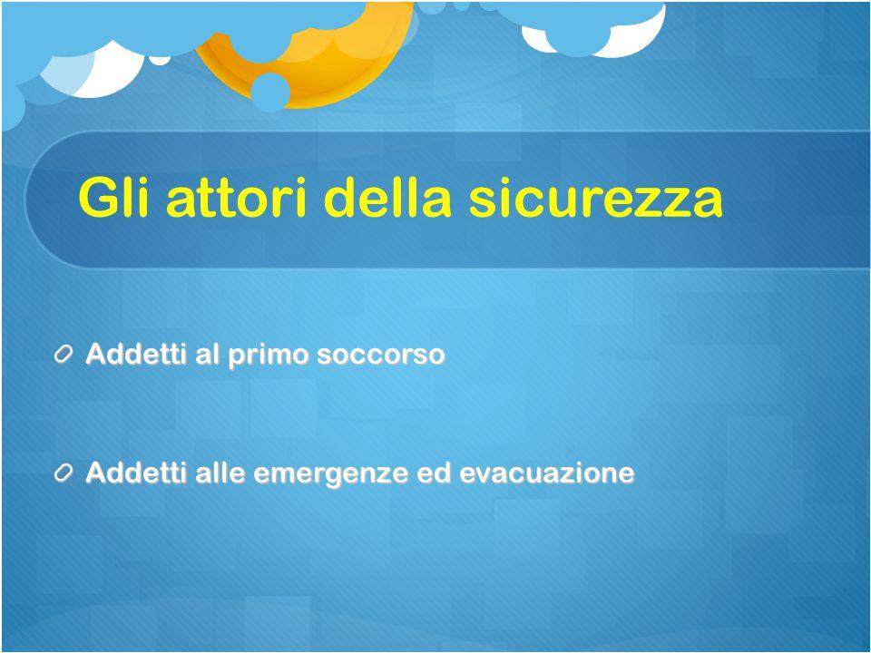 Addetti al primo soccorso Addetti alle emergenze ed evacuazione