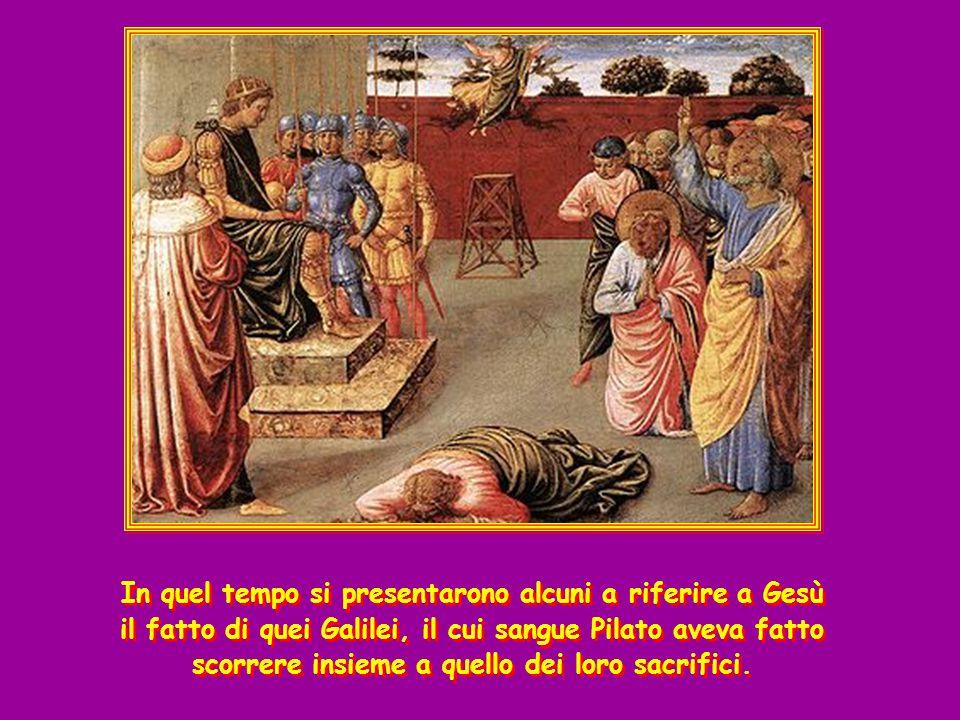 + Dal Vangelo secondo Luca ( Lc 13,1-9 ) + Dal Vangelo secondo Luca ( Lc 13,1-9 )