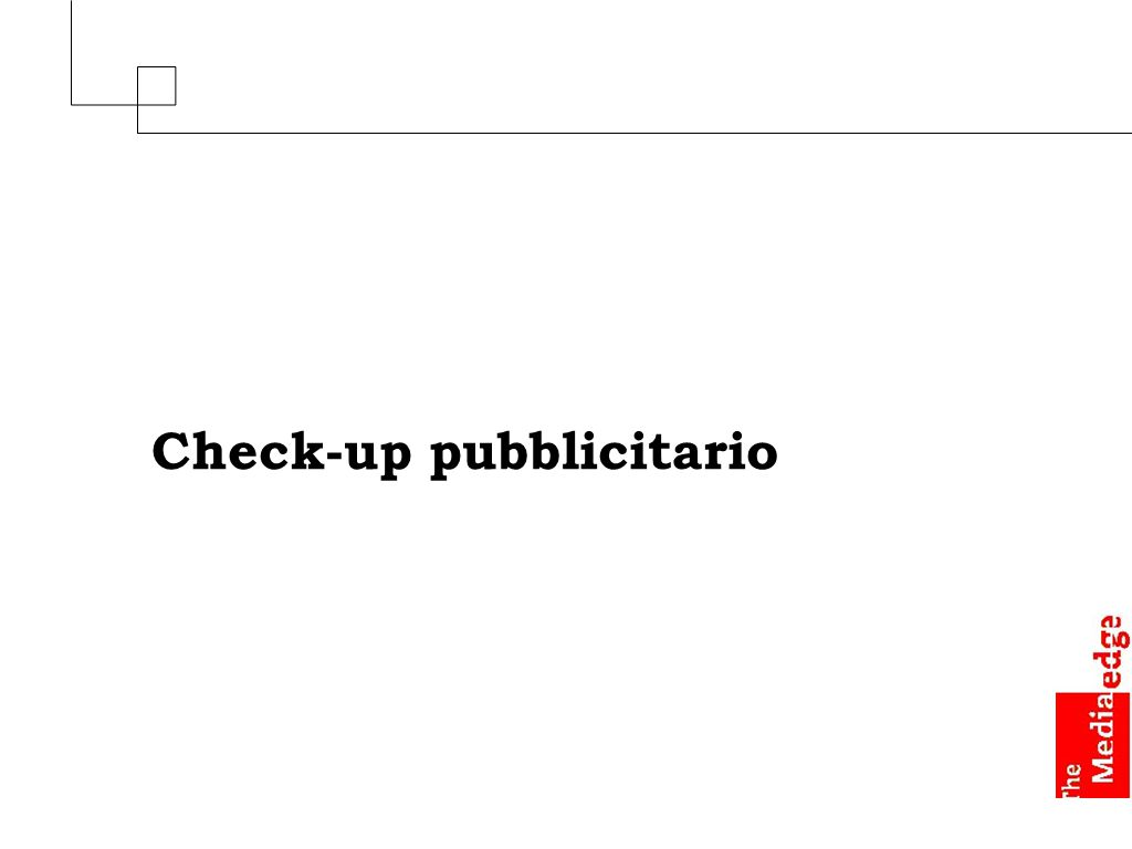 Check-up pubblicitario