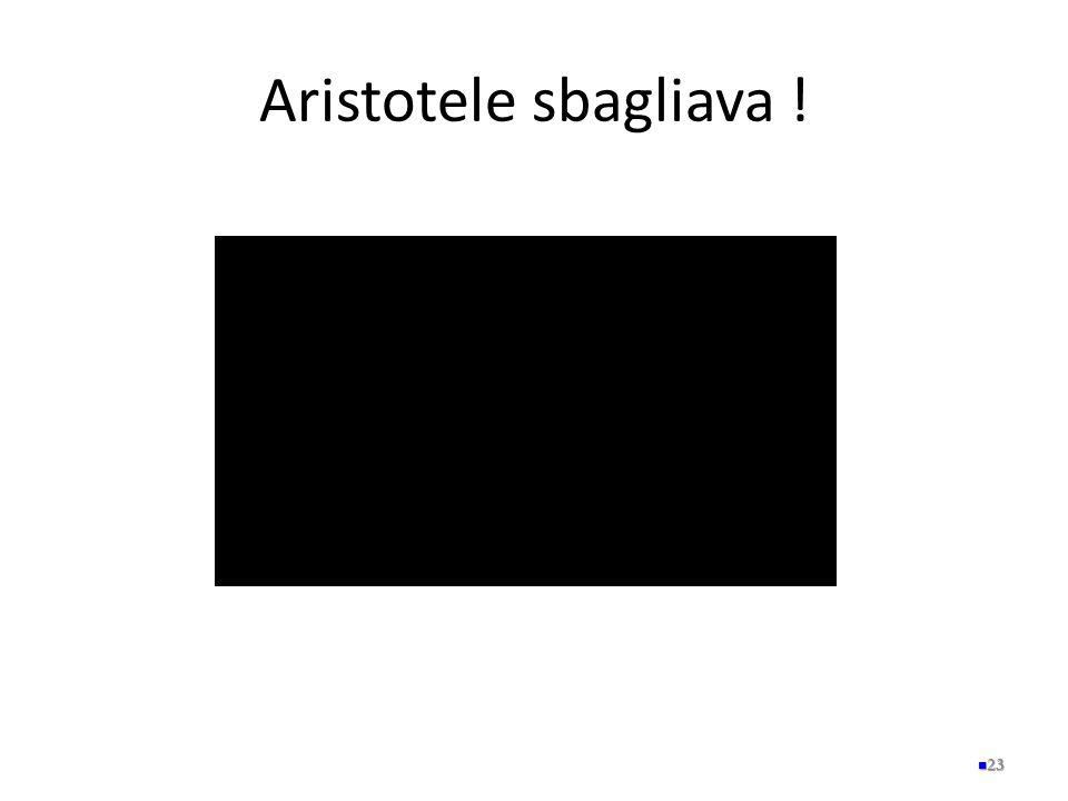 Aristotele sbagliava ! 23