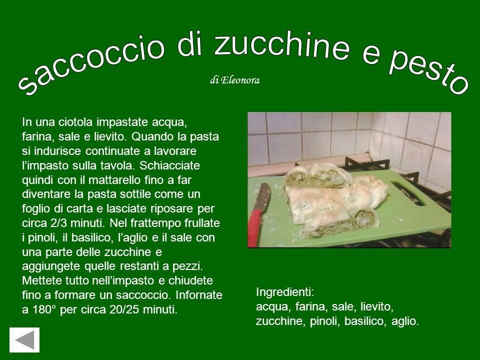 Ingredienti: 1 kg di spinaci, 1 confezione di ricotta, 3 uova, 1 bicchierino di olio di oliva, un bicchiere di latte, due strati di pasta sfoglia pron
