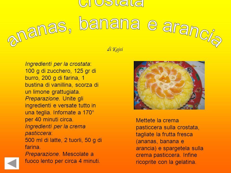 Ingredienti per la crostata: 100 g di zucchero, 125 gr di burro, 200 g di farina, 1 bustina di vanillina, scorza di un limone grattugiata.