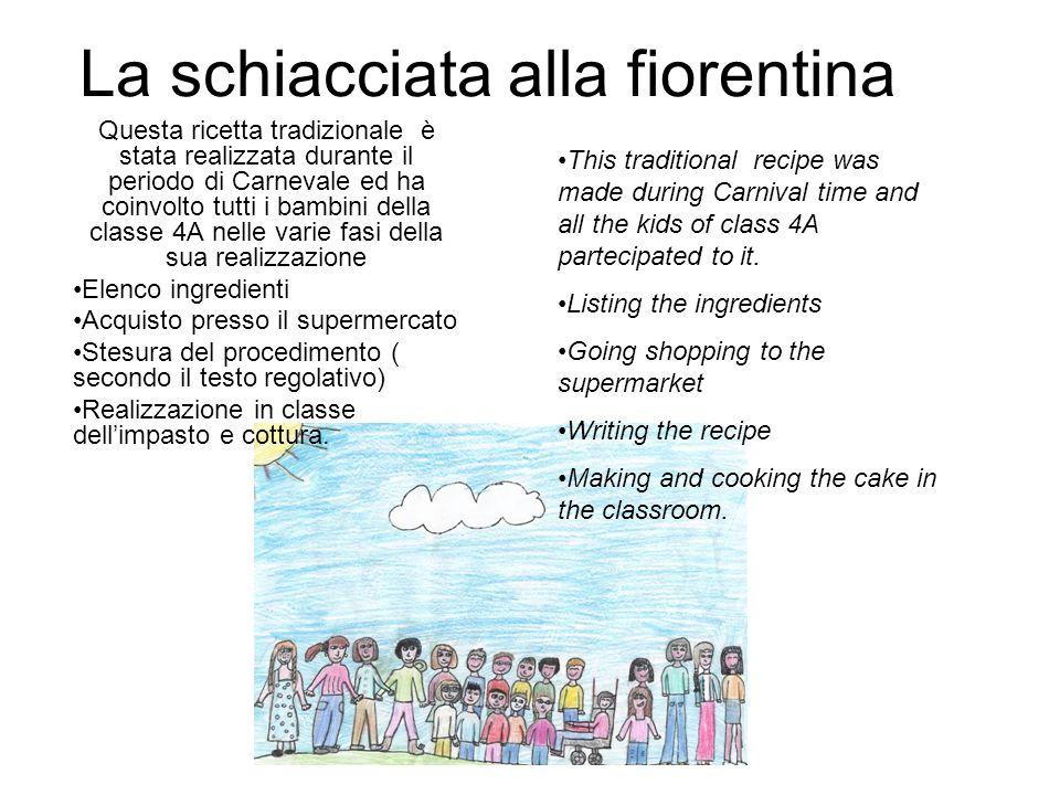 La schiacciata alla fiorentina Questa ricetta tradizionale è stata realizzata durante il periodo di Carnevale ed ha coinvolto tutti i bambini della cl