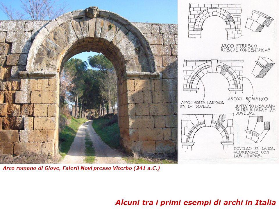 Arco romano di Giove, Falerii Novi presso Viterbo (241 a.C.) Alcuni tra i primi esempi di archi in Italia
