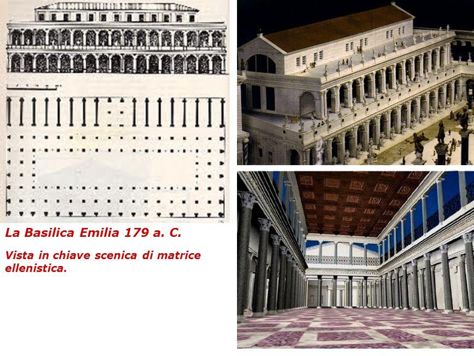 La Basilica Emilia 179 a. C. Vista in chiave scenica di matrice ellenistica.