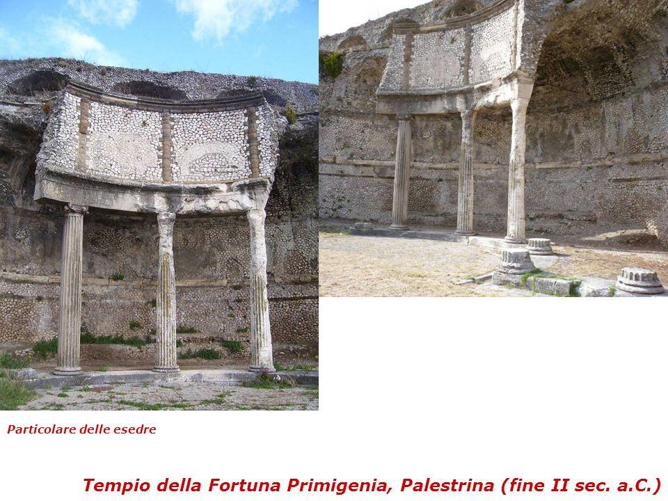 Tempio della Fortuna Primigenia, Palestrina (fine II sec. a.C.) Particolare delle esedre