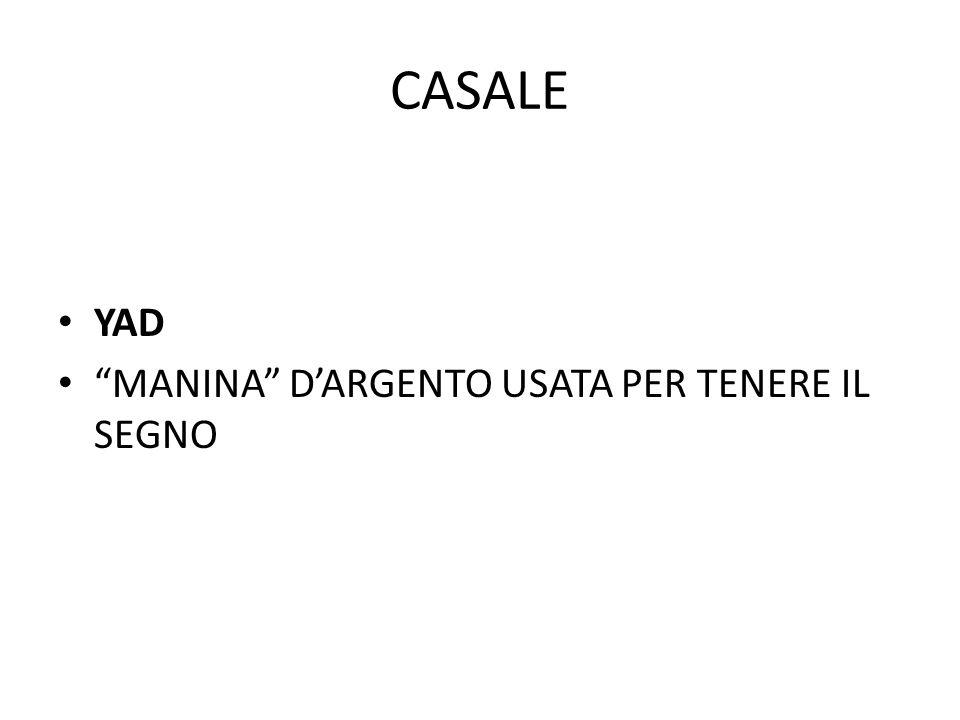 """CASALE YAD """"MANINA"""" D'ARGENTO USATA PER TENERE IL SEGNO"""