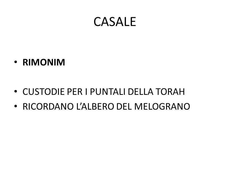 CASALE RIMONIM CUSTODIE PER I PUNTALI DELLA TORAH RICORDANO L'ALBERO DEL MELOGRANO