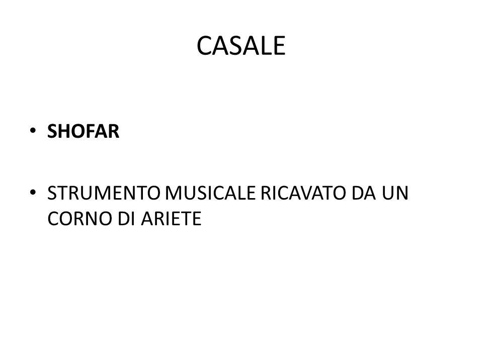 CASALE SHOFAR STRUMENTO MUSICALE RICAVATO DA UN CORNO DI ARIETE