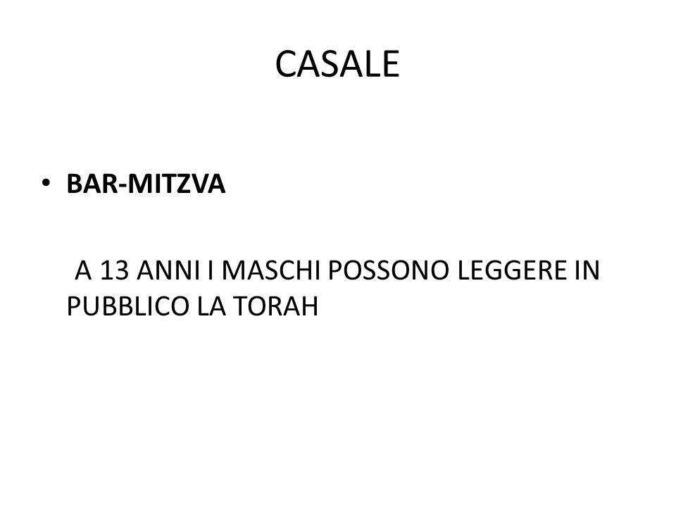 CASALE BAR-MITZVA A 13 ANNI I MASCHI POSSONO LEGGERE IN PUBBLICO LA TORAH