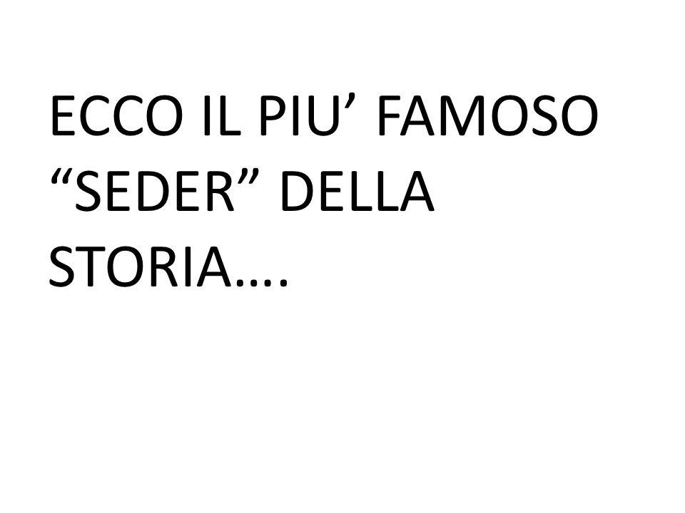 """ECCO IL PIU' FAMOSO """"SEDER"""" DELLA STORIA…."""