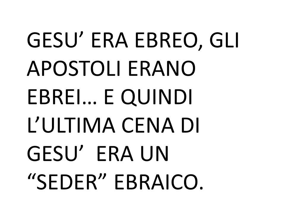 """GESU' ERA EBREO, GLI APOSTOLI ERANO EBREI… E QUINDI L'ULTIMA CENA DI GESU' ERA UN """"SEDER"""" EBRAICO."""