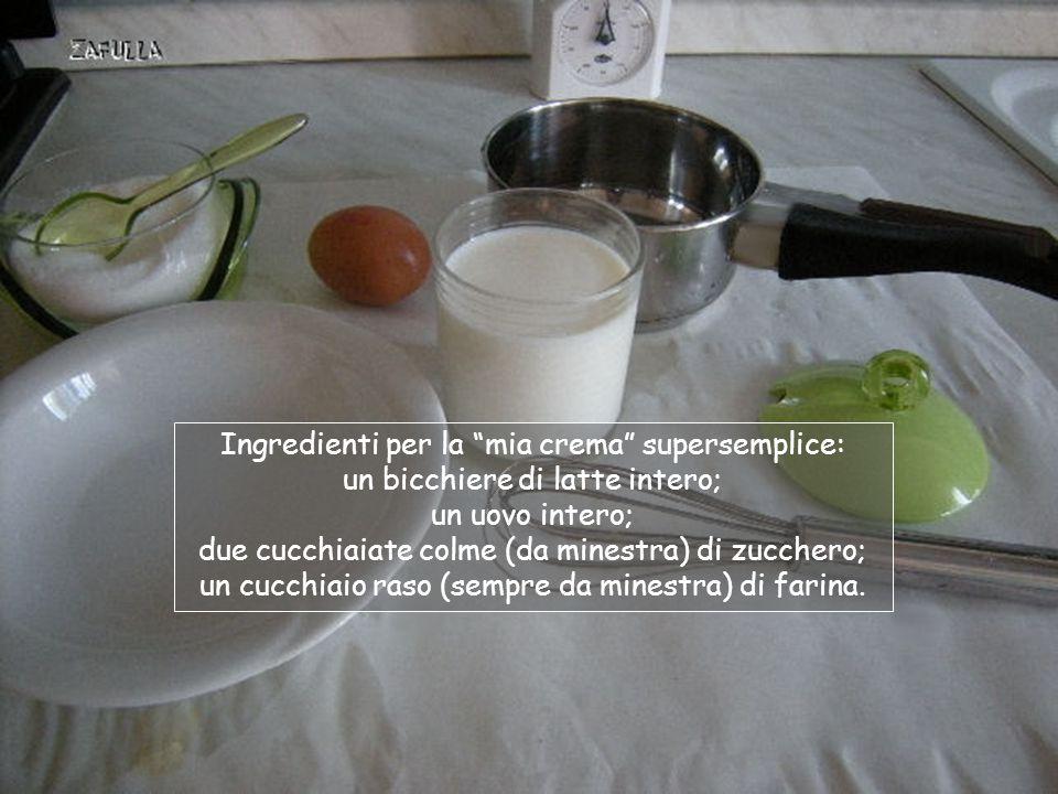 Ora prepariamo la crema casalinga per farcirli … Oops, ne manca già uno … (ma era il più piccolo)!