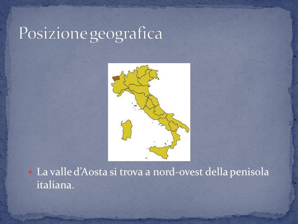 La valle d'Aosta si trova a nord-ovest della penisola italiana.