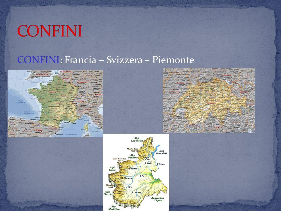 CONFINI: Francia – Svizzera – Piemonte