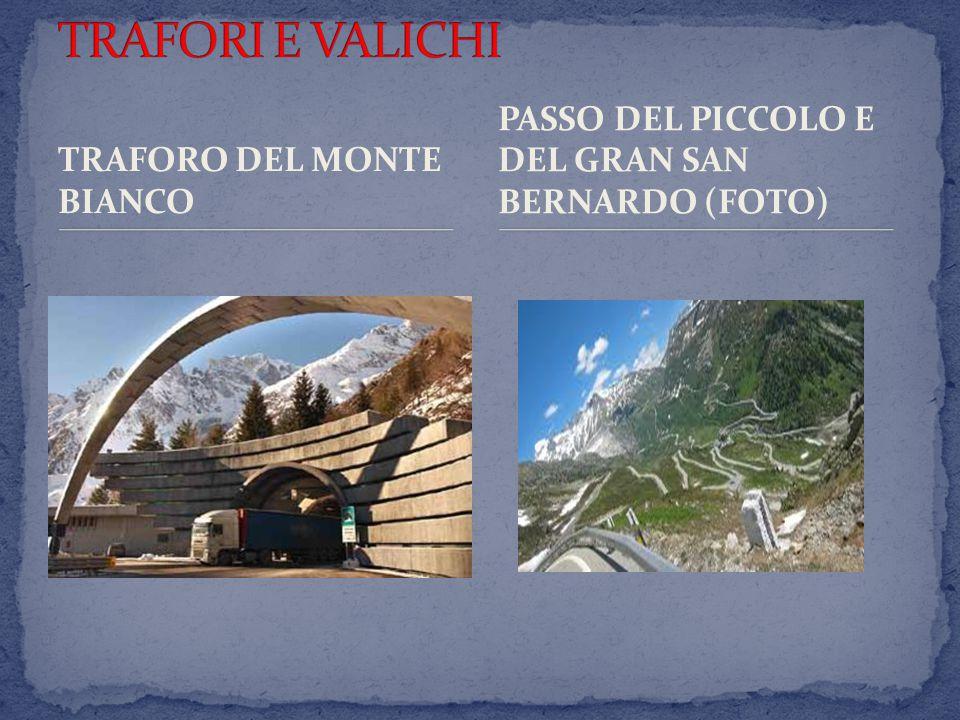 TRAFORO DEL MONTE BIANCO PASSO DEL PICCOLO E DEL GRAN SAN BERNARDO (FOTO)