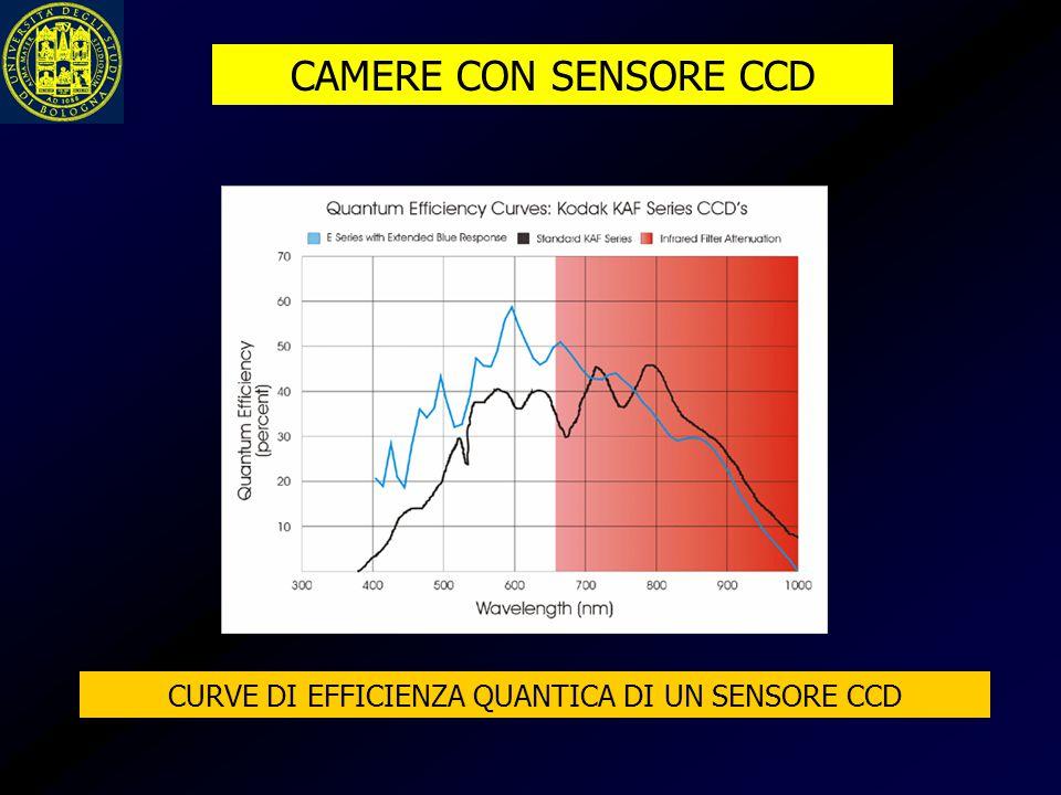 CAMERE CON SENSORE CCD CURVE DI EFFICIENZA QUANTICA DI UN SENSORE CCD