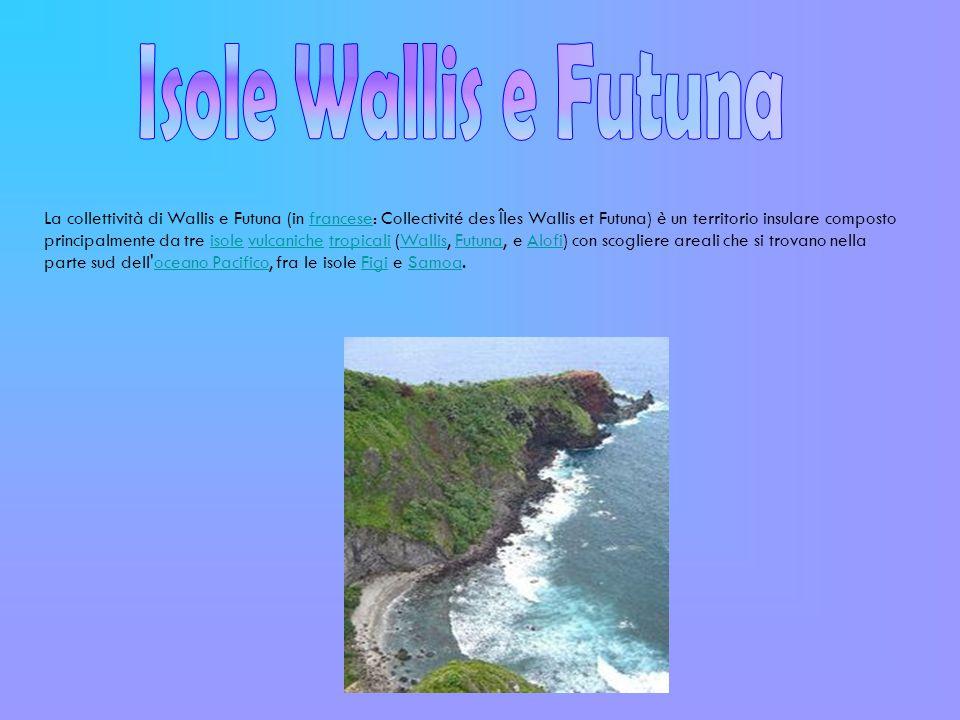 Collettività d oltremare Wallis e Futuna è una Collettività d Oltremare francese (francese: collectivité d outre-mer, o COM) dal 2003.