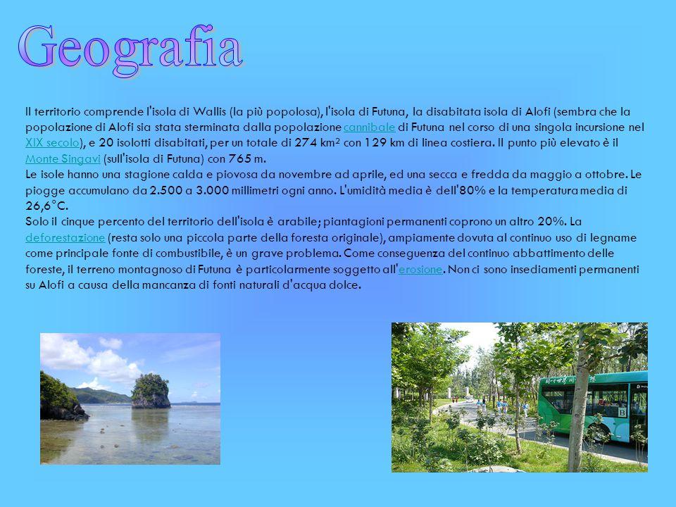 Il territorio comprende l'isola di Wallis (la più popolosa), l'isola di Futuna, la disabitata isola di Alofi (sembra che la popolazione di Alofi sia s