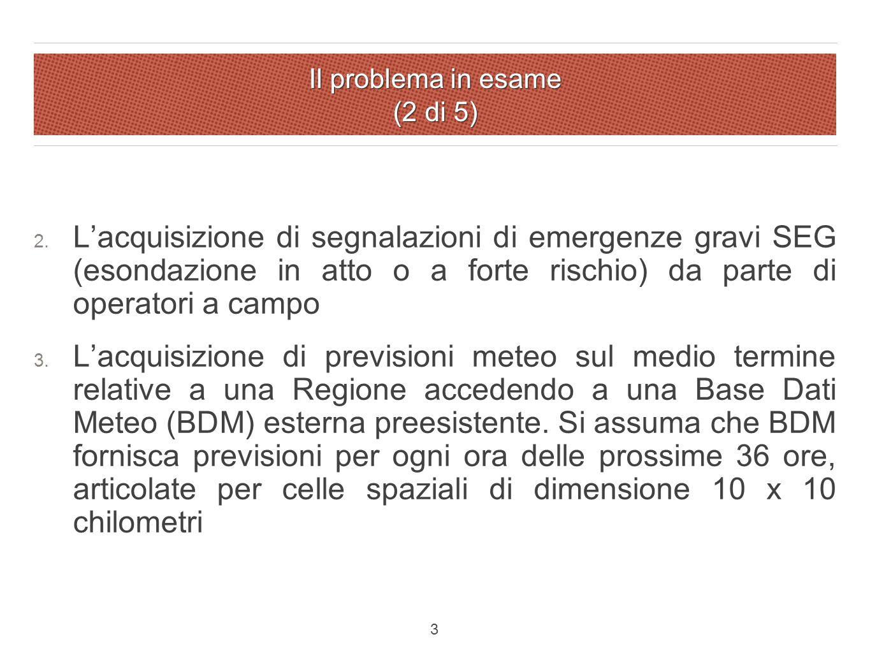 Il problema in esame (2 di 5) 2.