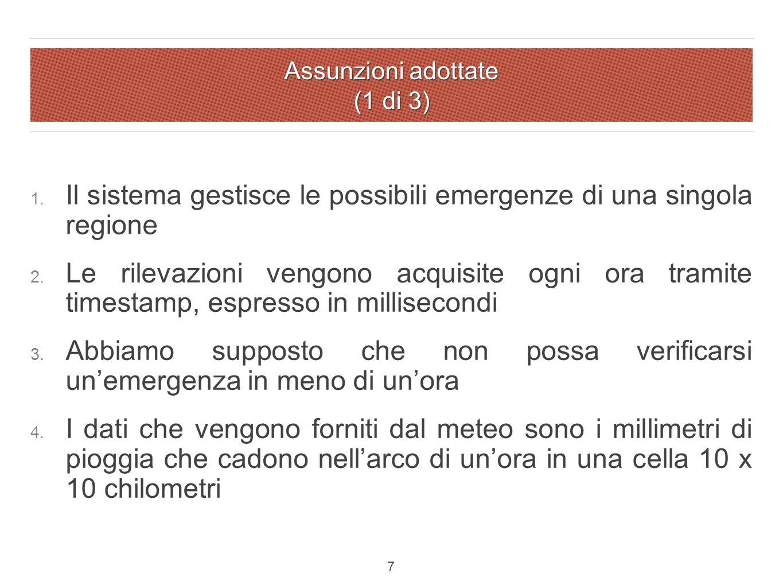 Assunzioni adottate (1 di 3) 1.