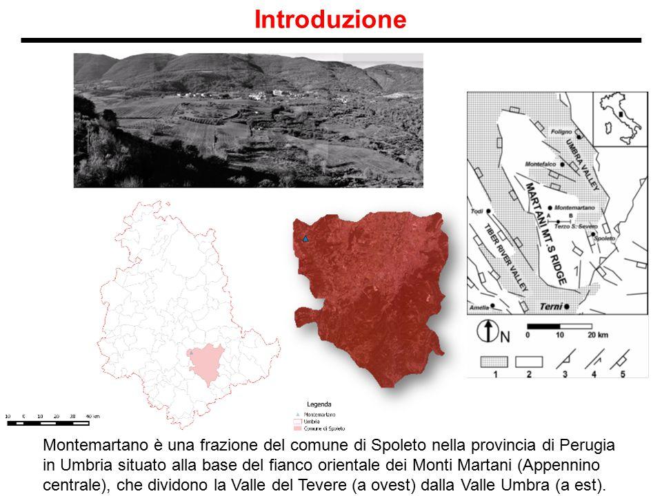 Introduzione Montemartano è una frazione del comune di Spoleto nella provincia di Perugia in Umbria situato alla base del fianco orientale dei Monti M