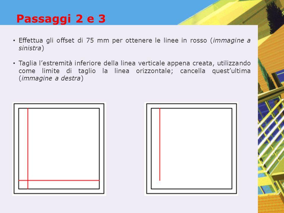 Passaggio 4 Utilizza il comando Serie polare: Centro della serie  estremità inferiore della linea verticale Numero di elementi  8 Angolo  -90 Ruotare gli oggetti mentre vengono copiati  Sì