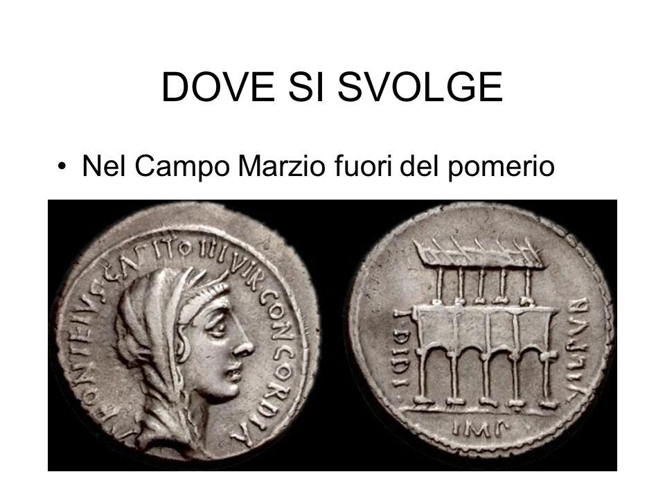 Ricostruzione della base secondo Filippo Coarelli La base doveva sostenere le statue di Nettuno, Anfitrite, AchilleAnfitriteAchille